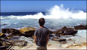 Me, staring poetically at a wave at Cape Point.